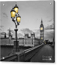 Westminster Morning Acrylic Print by Colin and Linda McKie