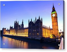 Westminster Palace Acrylic Print by  Ultraforma