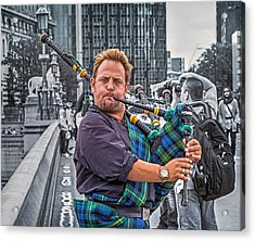 Westminster Piper Acrylic Print