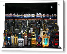 Westside Looking Towards The Hudson Acrylic Print