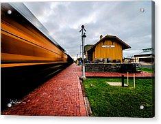 Westward Bound Train Acrylic Print by Jeffrey W Spencer