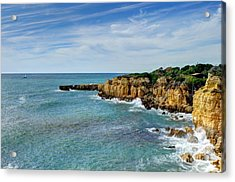 Westward Ho Sailing Around Castelo Points Algarve Portugal Acrylic Print by John Kelly