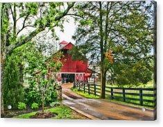 Landscape - Barn - Wet Day On The Farm Acrylic Print by Barry Jones