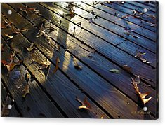 Wet Deck Acrylic Print by Brian Wallace