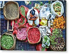 Wet Market In Ubud Acrylic Print