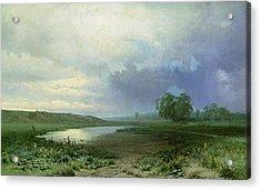 Wet Meadow Acrylic Print by Fedor Aleksandrovich Vasiliev