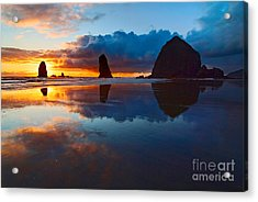 Wet Paint - Sunset In Oregon Acrylic Print by Jamie Pham