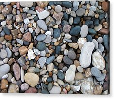 Wet Pebbles Acrylic Print by Margaret McDermott