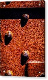 Wet Rivets  Acrylic Print by Bob Orsillo