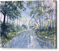 Wet Road In Woldgate Acrylic Print