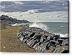 Wet Rock Walk  Acrylic Print