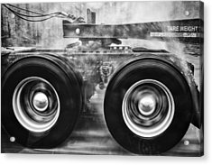 Wet Wheels Acrylic Print