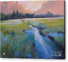 Wetland Acrylic Print by Melody Cleary