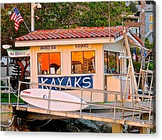 Wetspot Kayak Shack Acrylic Print by Jeff Gater