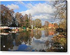 Wey Canal Surrey England Uk Acrylic Print