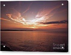 Acrylic Print featuring the photograph Weymoth Morning Glory by Baggieoldboy