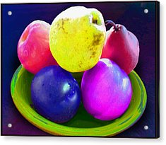 Whadda Pear Exclamation Point Acrylic Print by Ginny Schmidt