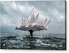 Acrylic Print featuring the pyrography Whale by Evgeniy Lankin