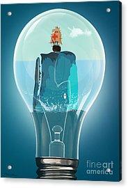 Whale Lights  Acrylic Print by Mark Ashkenazi