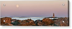 Whaleback Lighthouse Panorama Acrylic Print by Eric Gendron