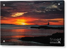 Whaleback Lighthouse Acrylic Print by Scott Thorp