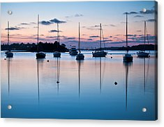 Wharf Blue Hour Acrylic Print by Lee Costa