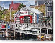 Wharf Hags Peggy's Cove Acrylic Print by Betsy Knapp