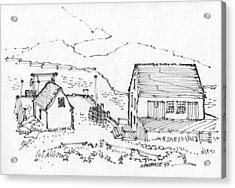 Wharf On Monhegan Island 1993 Acrylic Print