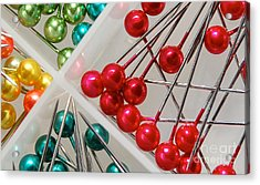 Acrylic Print featuring the digital art What A Buncha Pinheads by Margie Chapman