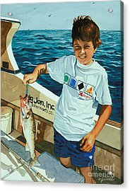 Acrylic Print featuring the painting What A Catch by Barbara Jewell