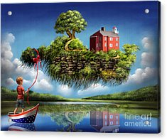 Acrylic Print featuring the painting What A Wonderful World by Sgn