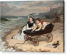 What Are The Wild Waves Saying? Acrylic Print by Charles Wynne Nicholls