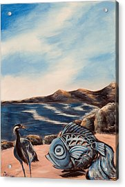 Acrylic Print featuring the painting What Did You Say? by Susan Culver