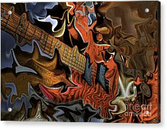 What Happened Last Night Digital Guitar Art By Steven Langston Acrylic Print by Steven Lebron Langston