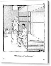 What Happens If You Hit Escape? Acrylic Print
