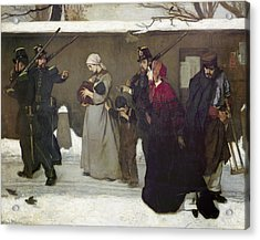 What Is Called Vagrancy Or, The Hunters Of Vincennes, 1854 Oil On Canvas Acrylic Print by Alfred Emile Stevens