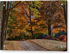 What Is Just Over The Hill Acrylic Print by Jeff Folger