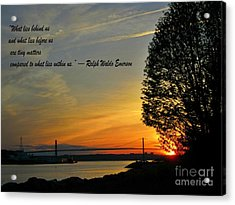 What Lies Within Acrylic Print by Crystal Loppie