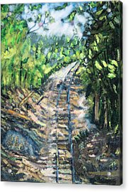 What's Around The Bend? Acrylic Print