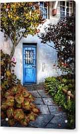 What's Behind The Blue Door   Basel Acrylic Print