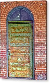 What's Behind The Green Door Acrylic Print