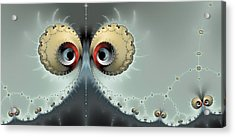 Whats Going On - Fractal Eyes Watching You Acrylic Print by Matthias Hauser