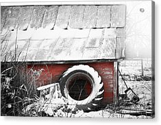 What's He Building In There Acrylic Print