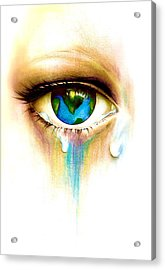 What's In A Tear? Acrylic Print by Andrea Carroll