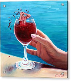 What's In Your Goblet? Acrylic Print
