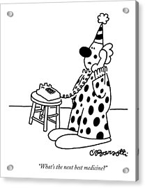 What's The Next Best Medicine? Acrylic Print by Charles Barsotti