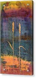 Wheat Couple Acrylic Print by Carolyn Doe
