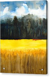 Wheat Field 1 Acrylic Print by Carlin Blahnik