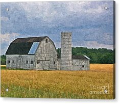 Wheat Field Barn Acrylic Print