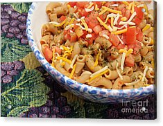 Wheat Pasta Goulash Acrylic Print